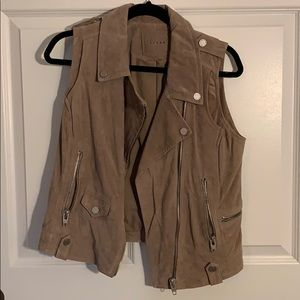 BLANKNYC 100% Suede Leather Vest
